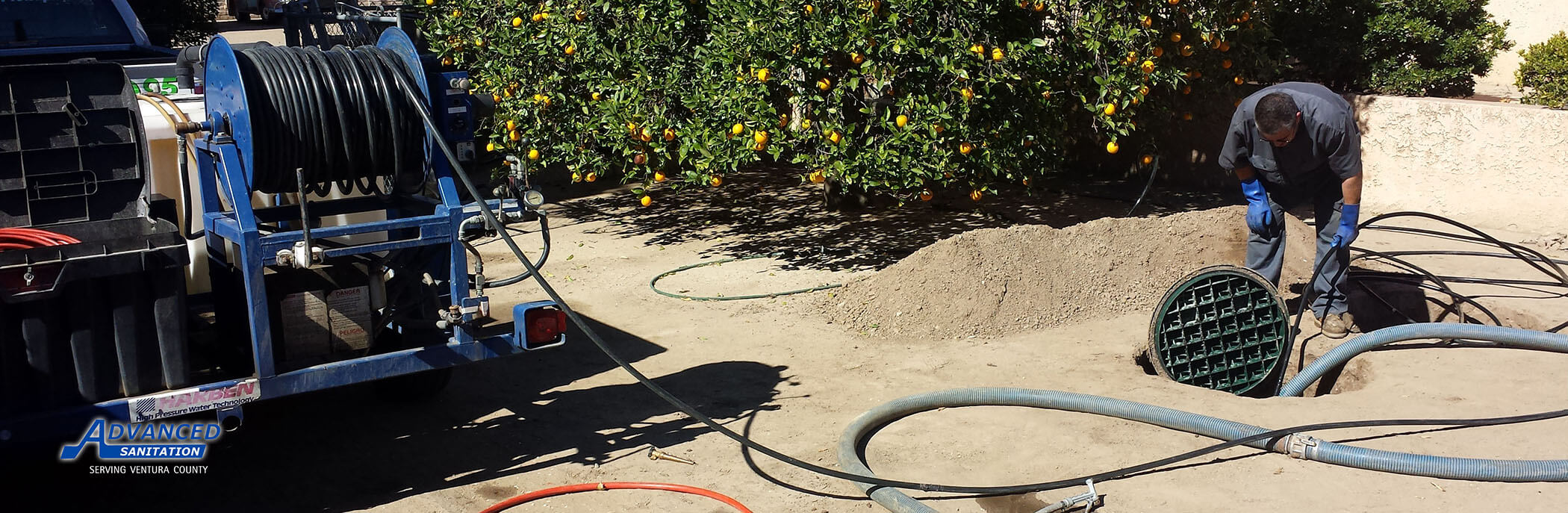 Commercial septic tank pumping Ventura County, Oxnard